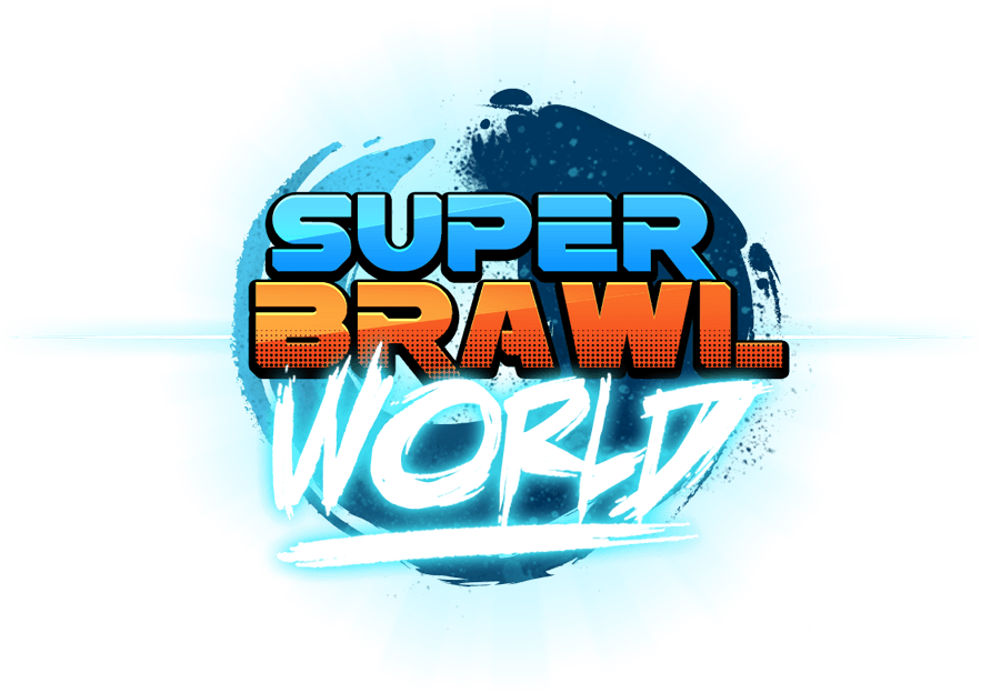 Super Brawl World Logo